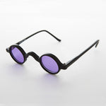purple round victorian colored lens retro vintage sunglasses