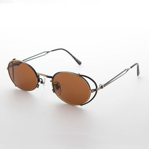 side shield vintage steampunk 90s sunglass