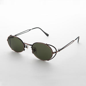 side shield vintage steampunk 90's sunglass