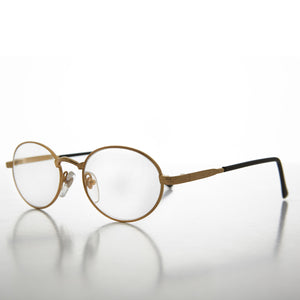 gold oval reading glasses