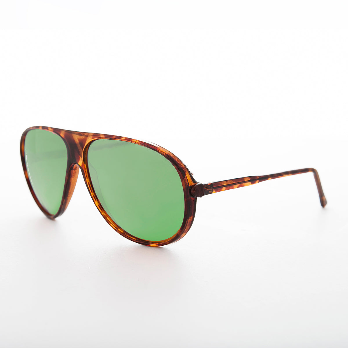 Green Glass Lens Vintage Aviator Sunglass