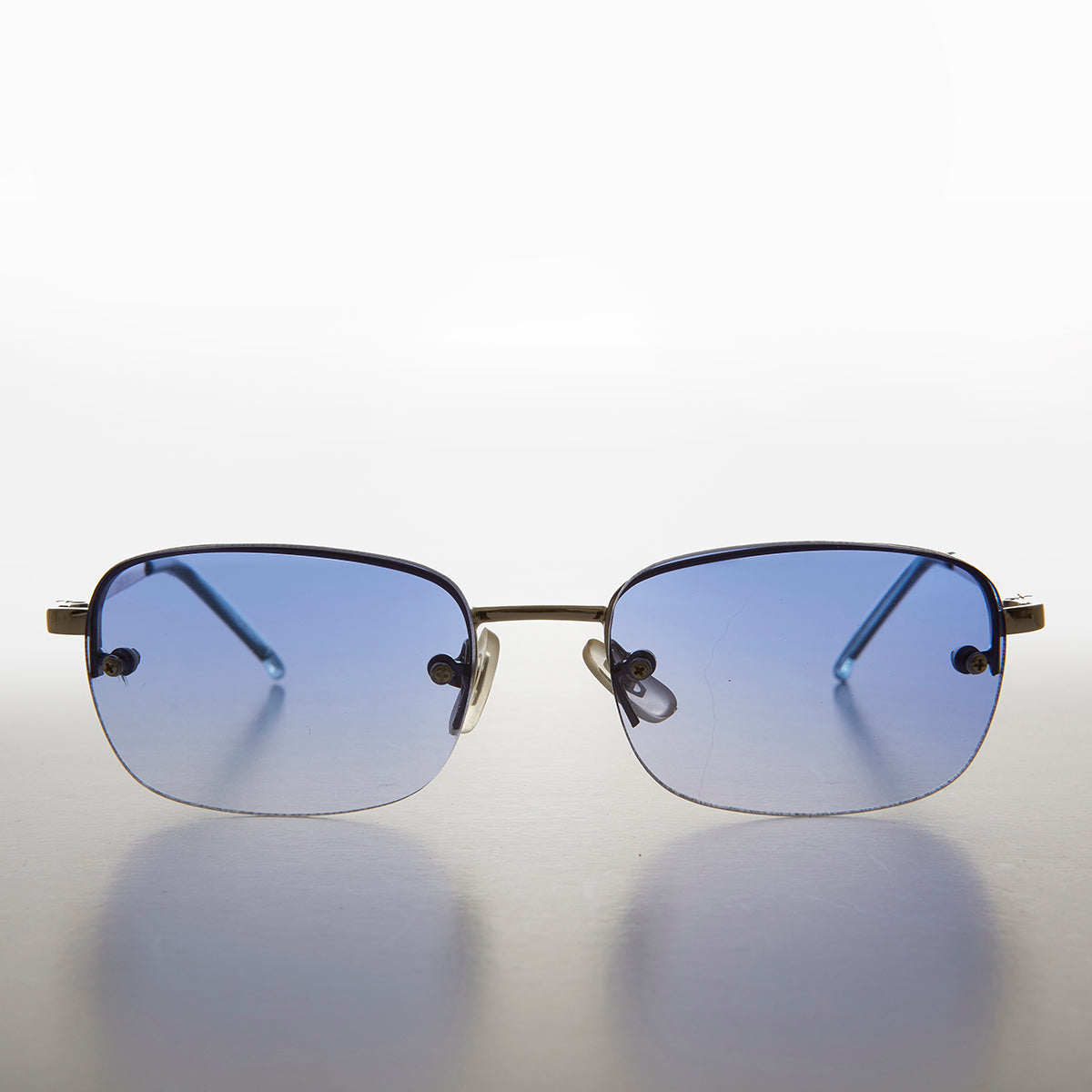 Tinted Lens Rimless Rectangular Vintage Dead Stock Sunglass