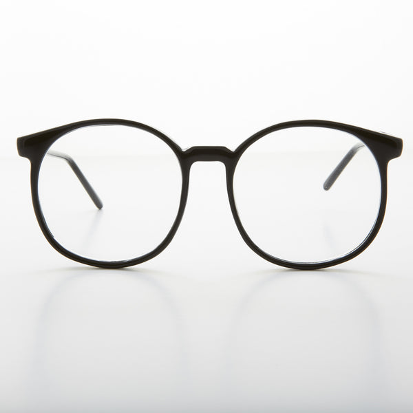 oversized secretary clear lens glasses