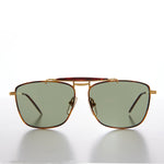 Load image into Gallery viewer, Gold Racing Aviator Vintage Sunglass
