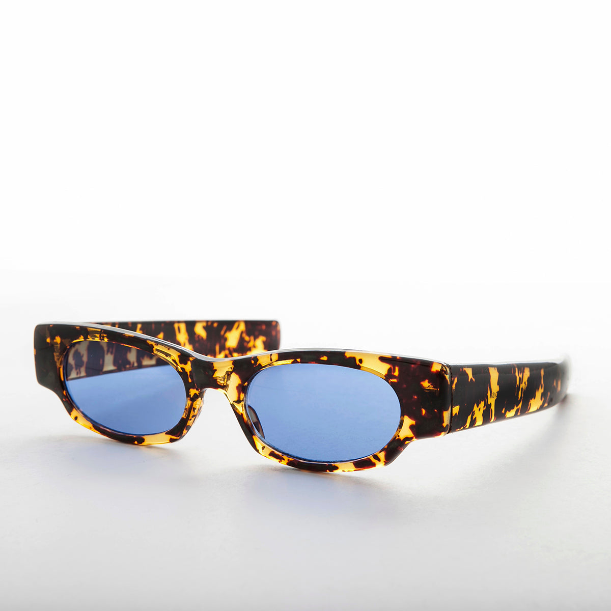 Slim Cruiser Vintage Sunglass with Blue Tinted Lens
