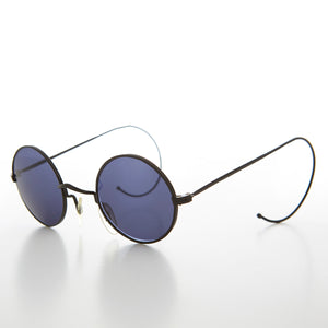 Small Round Vintage Sunglass with Cable Temples