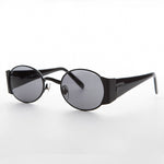 Load image into Gallery viewer, black oval combo frame vintage sunglass