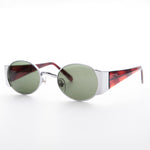 Load image into Gallery viewer, Oval Combo Vintage Sunglasses with Wide Temples
