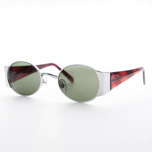 Oval Combo Vintage Sunglasses with Wide Temples
