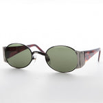 Load image into Gallery viewer, gun metal oval combo frame vintage sunglass