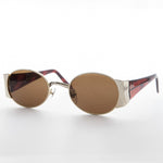 Load image into Gallery viewer, gold oval combo frame vintage sunglass