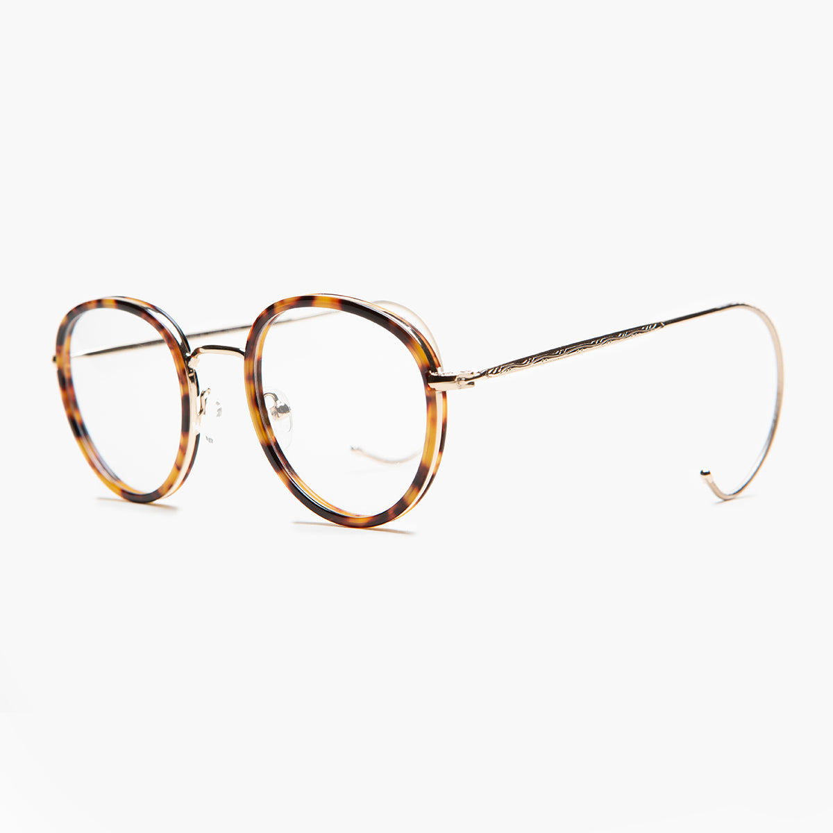 Preppy Round Glasses with Cable Temples