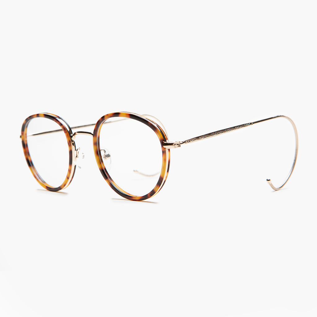 Round Reading Glasses with Cable Temples