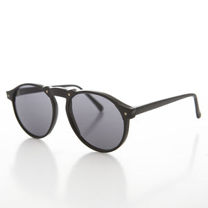 P3 Round Vintage Aviator Sunglass with High Arch