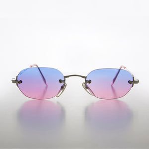 Rimless Two Color Lens Vintage 90s Sunglass