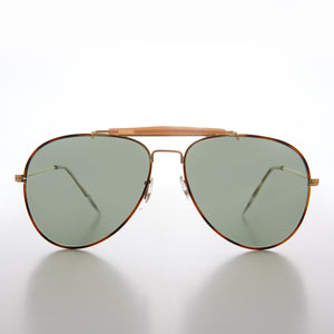 Teardrop Pilot Sunglass with Glass Lens