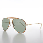 Load image into Gallery viewer, Teardrop Pilot Sunglass with Glass Lens