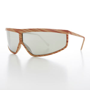 Wrap Around Mirror Lens 80s Vintage Sunglass