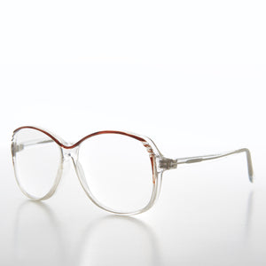 Clear Square Reading Glasses Granny-Style