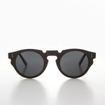 round cut-out design retro sunglass