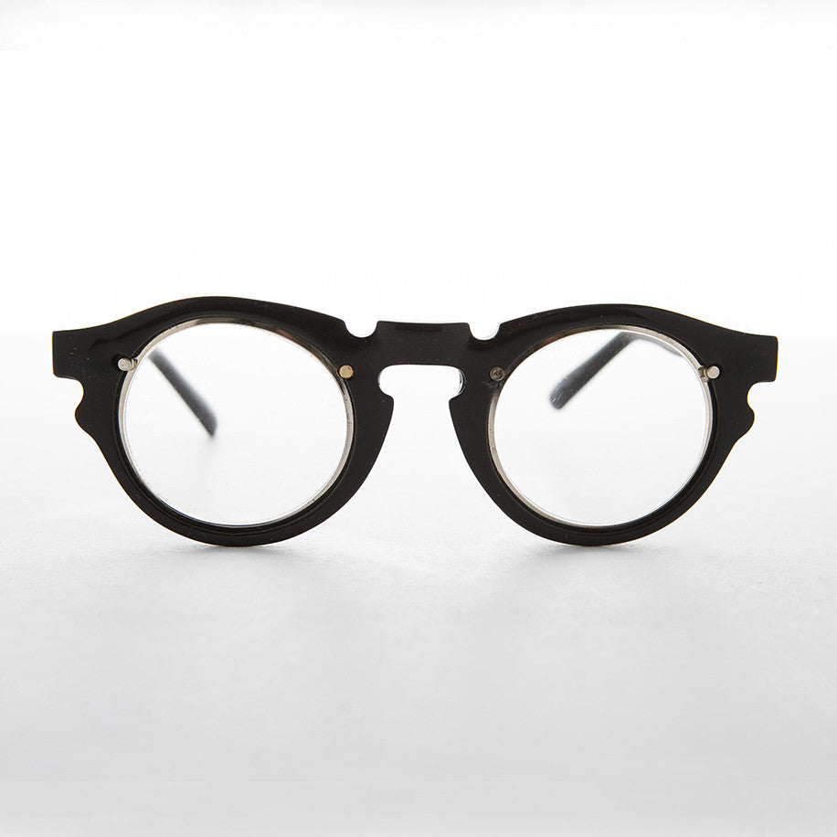 Vintage Clear Lens Indie Hipster Glasses with Keyhole Bridge - Tisch