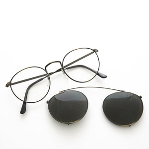 clip on sunglass and eyeglass