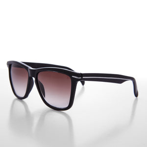 black sporty horn rim sunglass