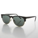 Load image into Gallery viewer, black half frame horn rim vintage sunglass