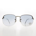 Load image into Gallery viewer, Rimless Vintage Sunglass with Rhinestone Heart