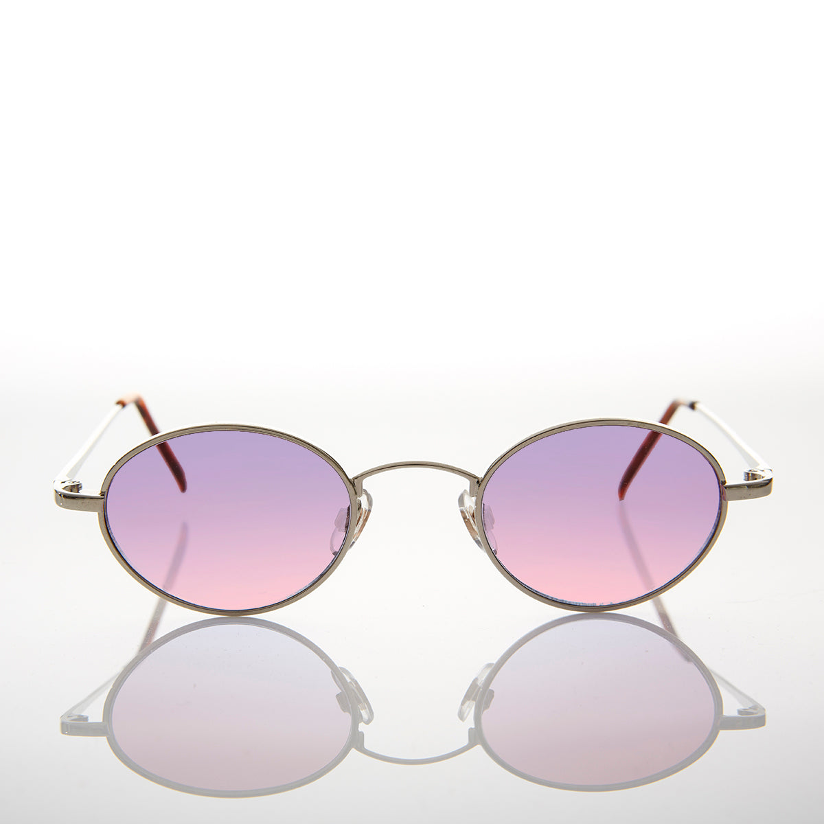 oval purple pink tinted lens sunglass