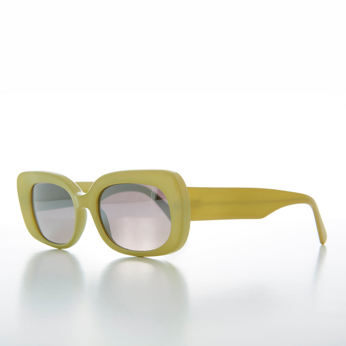 Thick Pastel Oval Mod Retro Sunglass