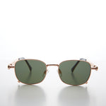 Load image into Gallery viewer, Tailored Steampunk Gold Sunglasses with Industrial Temples