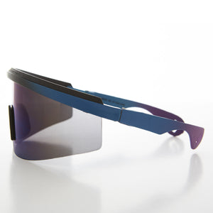 Disco Wrap Shield Vintage Biker Sunglasses