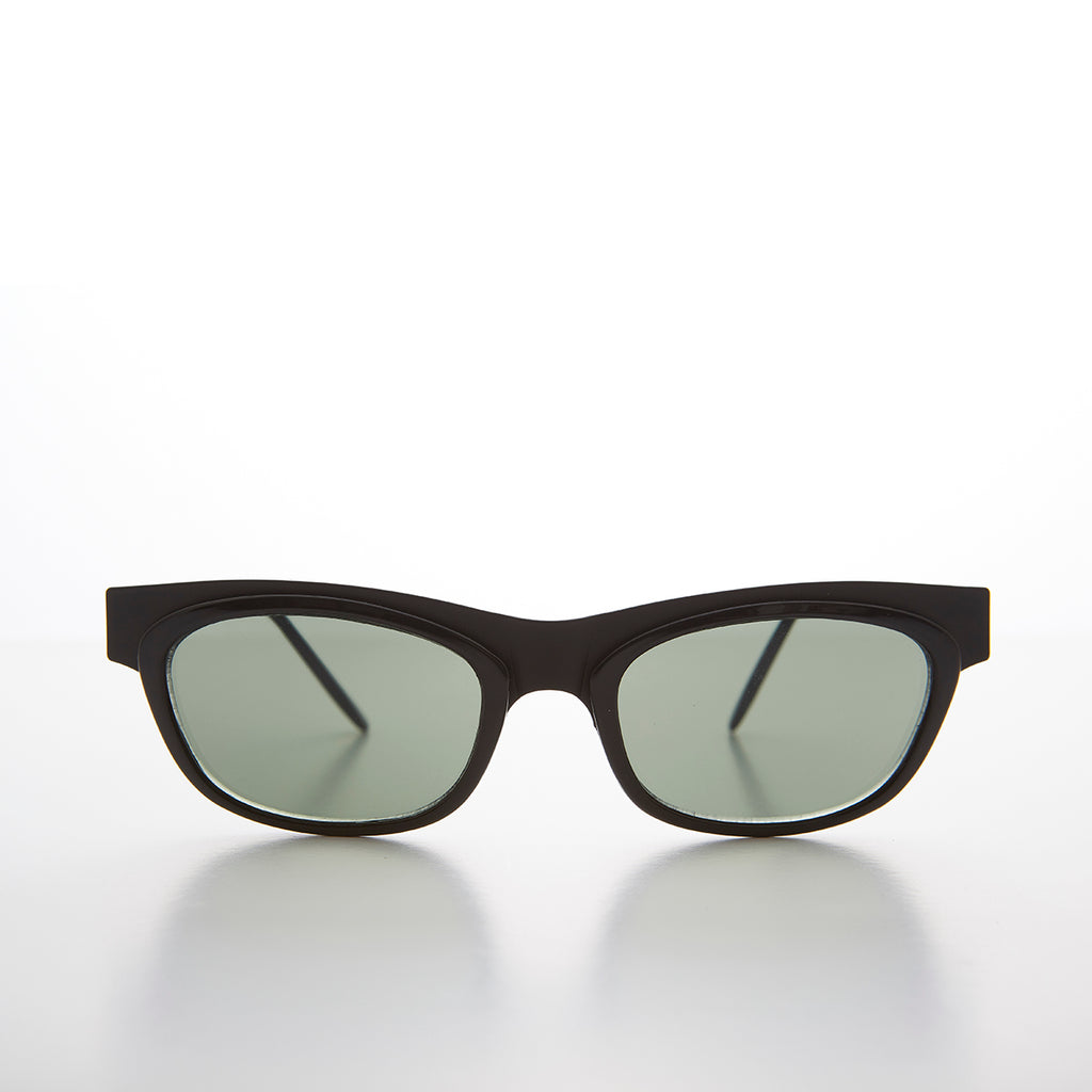 Futuristic Cat Eye Browline Rectangular Vintage Women's Sunglass