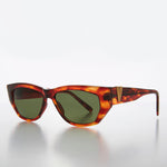 Load image into Gallery viewer, Chunky Mod Retro Sunglass with Gold Bling