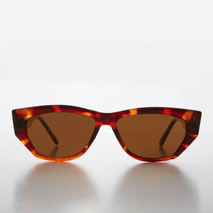 Chunky Mod Retro Sunglass with Gold Bling