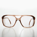 Load image into Gallery viewer, Brown Aviator Safety Glasses with Side Shields - Vern