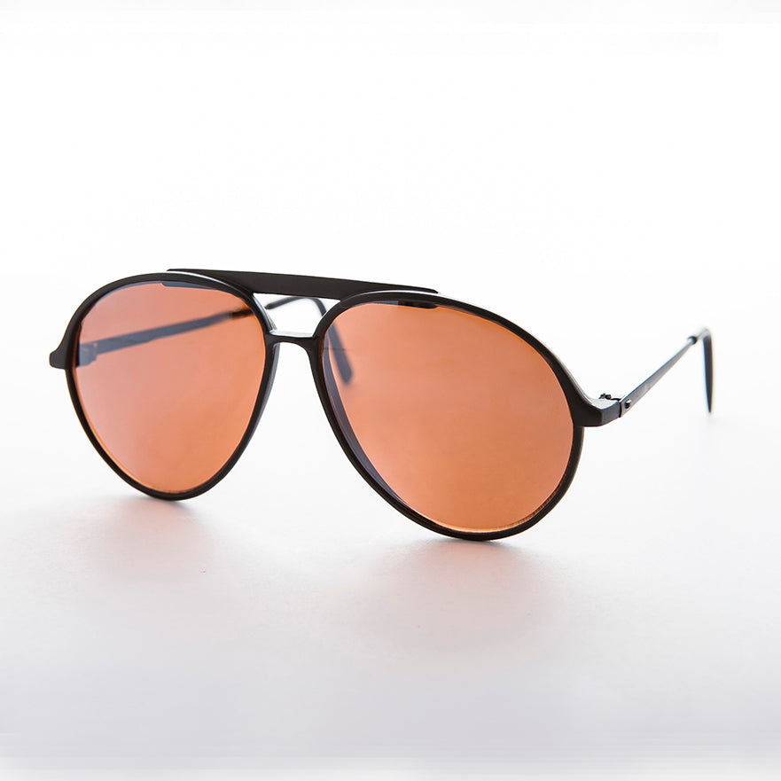 yellow amber lens driving vintage aviator sunglass