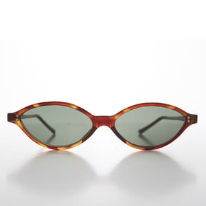 oval punk rock cateye sunglass