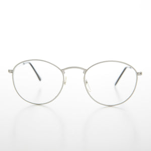 Round Metal Clear Lens Eyewear