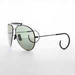 Load image into Gallery viewer, vintage aviator sunglass with cable temples and brow bar