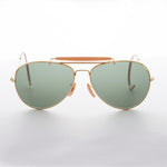 Load image into Gallery viewer, Vintage Aviator Sunglasses with Cable Temples and Glass Lens