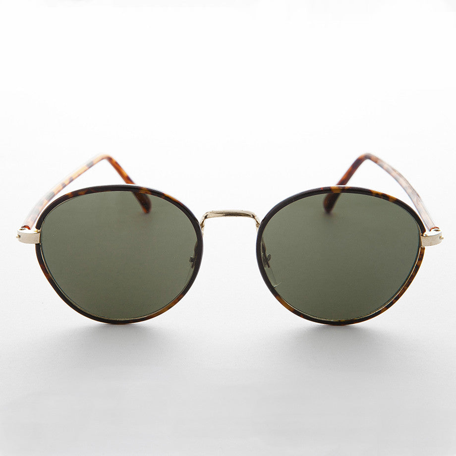 classic round polo style vintage sunglass