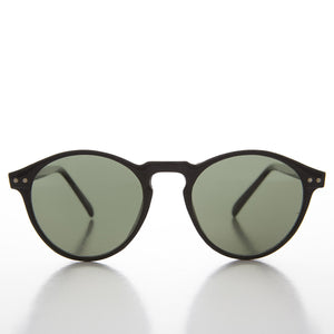 P3 O'Malley Shaped Thin Horn Rim Vintage Sunglass - Wyatt