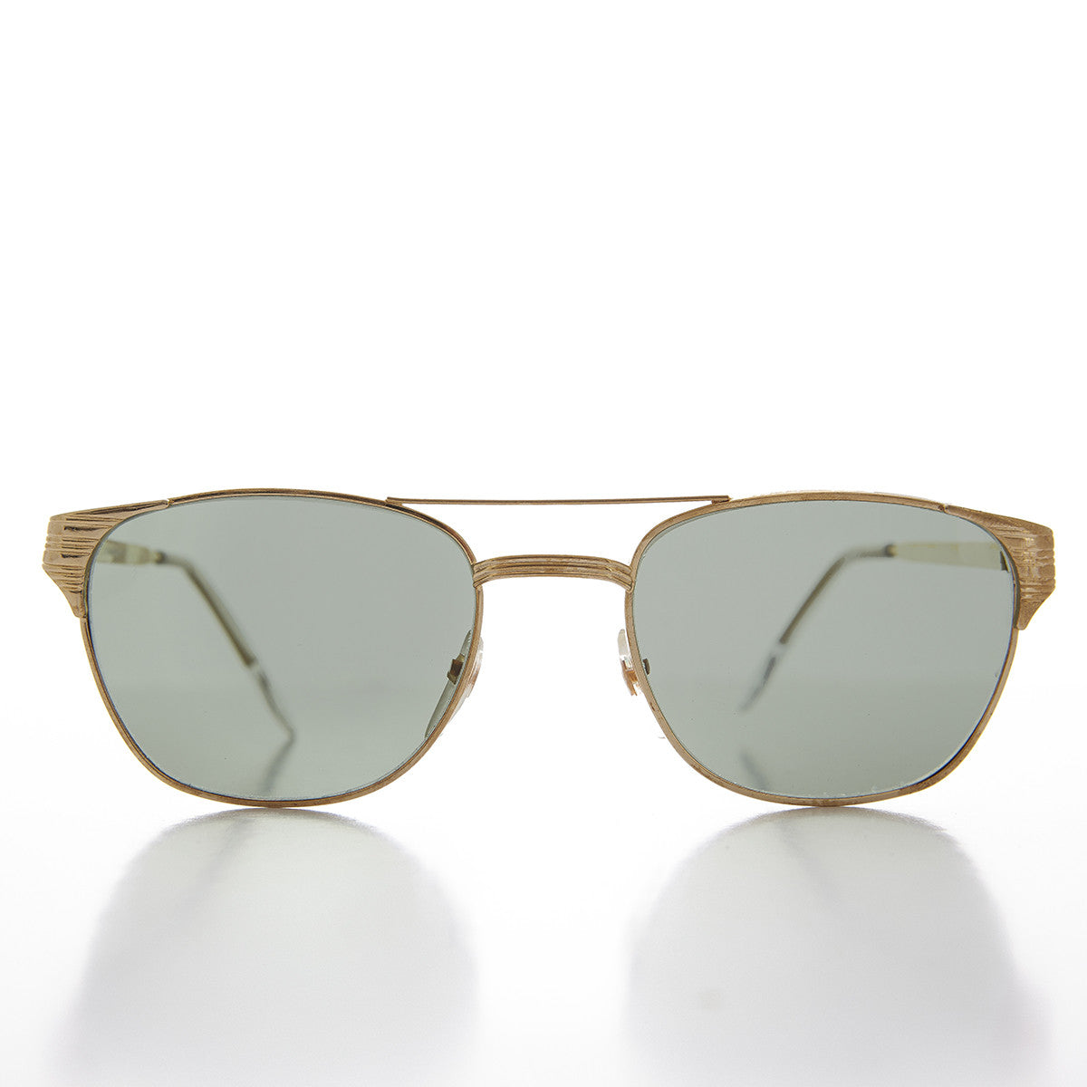 Mens Sport Fashion Square Gold Aviator Sunglass