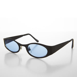 blue color lens sunglass