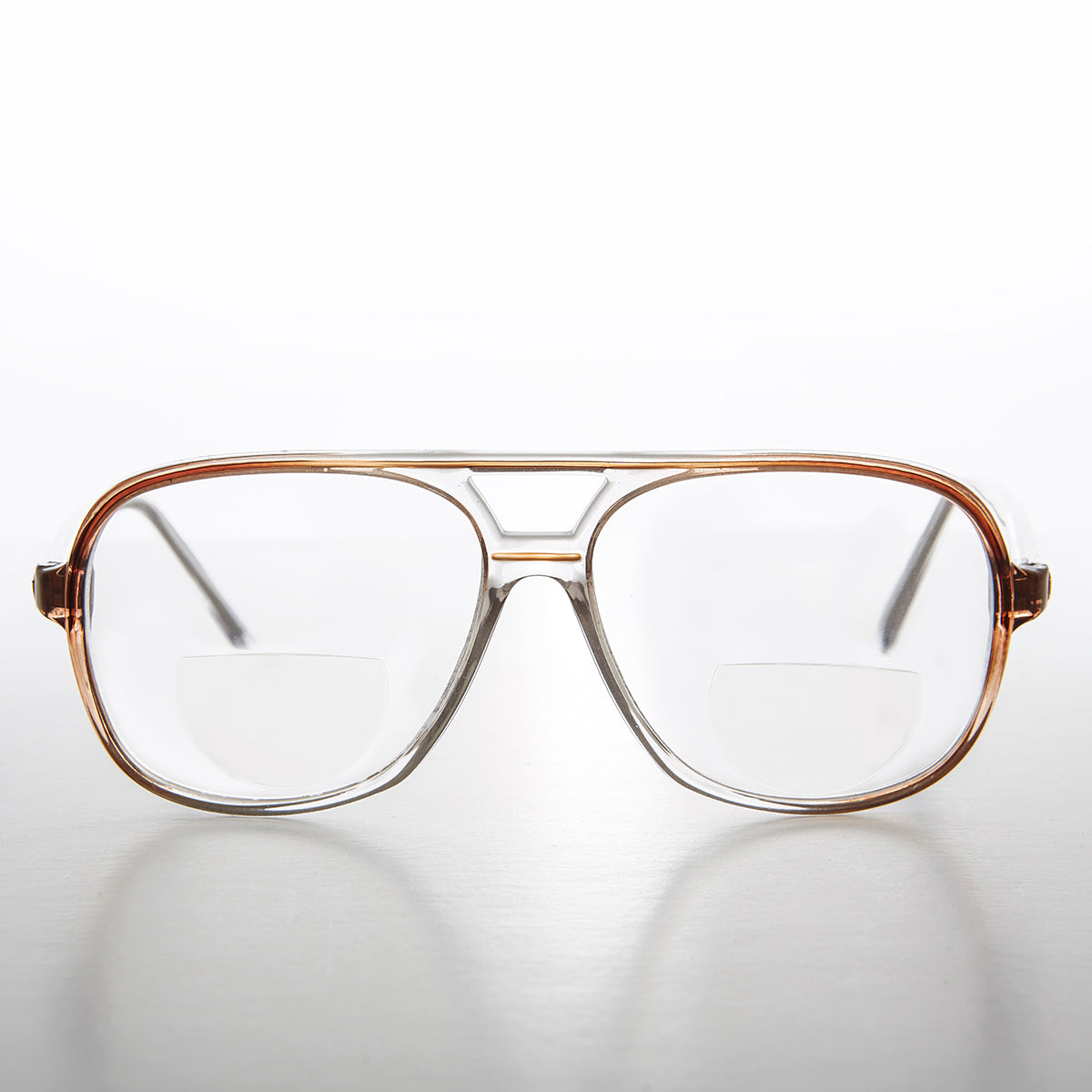 Square Retro Aviator Bifocal Reader