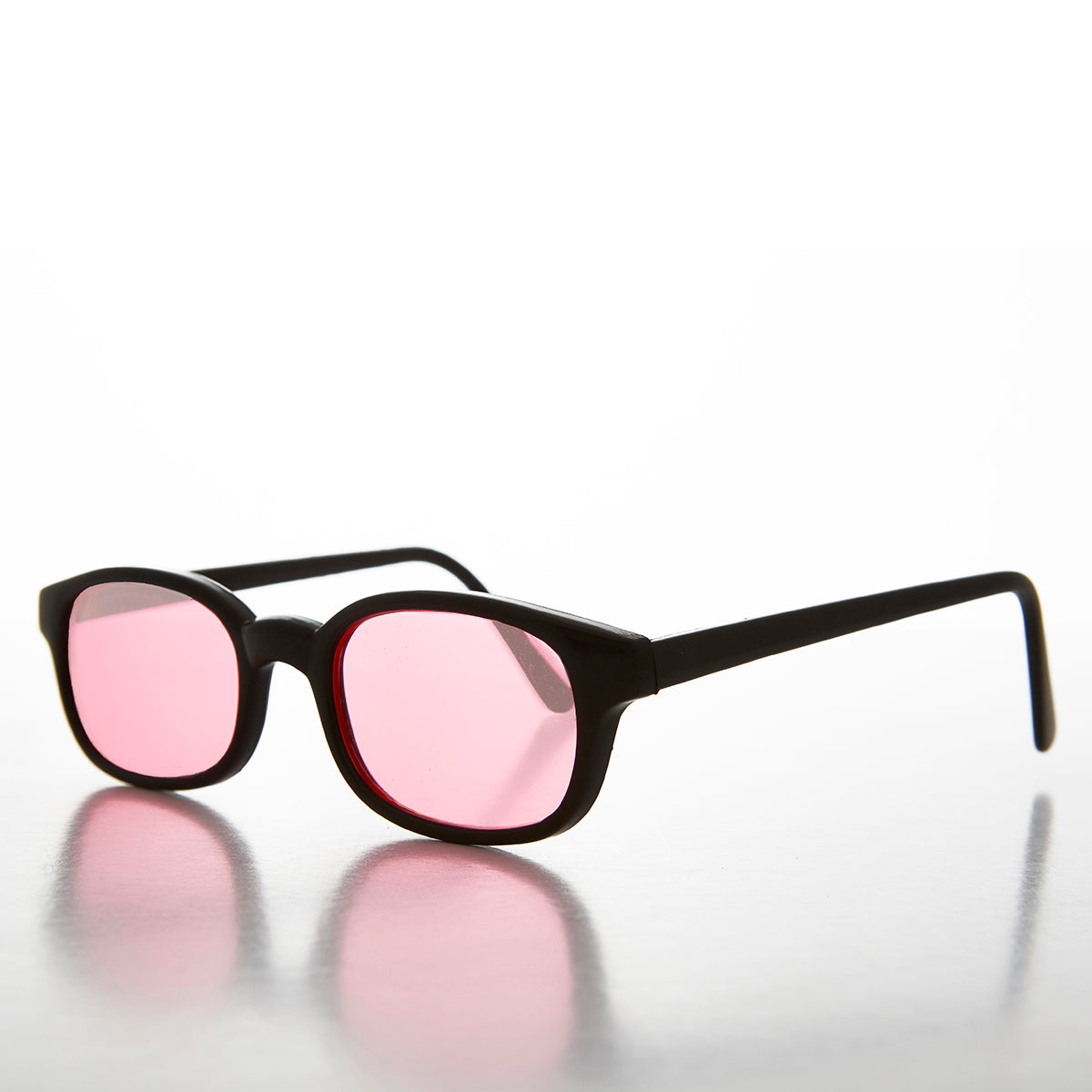 pink rectangular colored lens sunglass