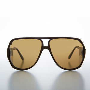 Wrap Polarized Lens Aviator 80s Vintage Sunglass