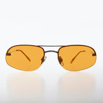 Rimless Color Pop Tinted Lens Vintage Sunglass